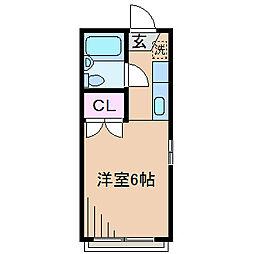 神奈川県横浜市港北区大曽根1の賃貸アパートの間取り