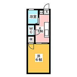 東名ハイツA棟[2階]の間取り