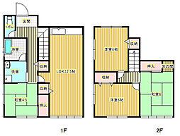 [テラスハウス] 大阪府箕面市牧落2丁目 の賃貸【/】の間取り