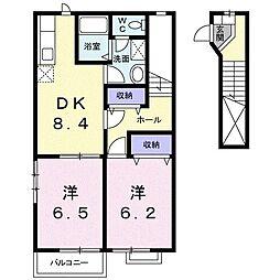 ラ フォレ ドゥ・ノール[2階]の間取り