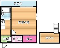 エクセレント藤井[1階]の間取り