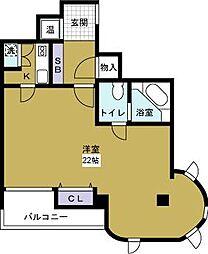 サングラン千代崎[8階]の間取り
