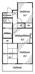 HOME's 第3キューブ[3階]の間取り