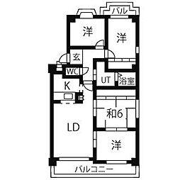 いづみハイツ平池[3階]の間取り