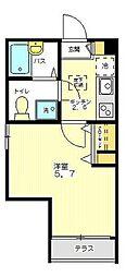 東京都練馬区上石神井南町の賃貸アパートの間取り