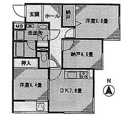 中野坂上ウィング[2階]の間取り