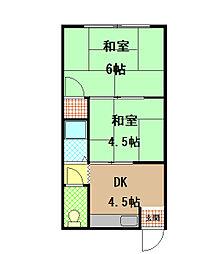兵庫県神戸市長田区二葉町9丁目の賃貸アパートの間取り