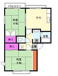 ドミール ヤマダ[2階]の間取り