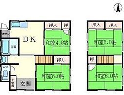 [一戸建] 大阪府豊中市向丘3丁目 の賃貸【/】の間取り
