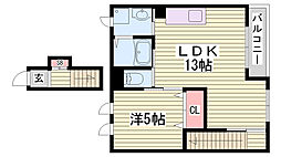 JR東海道・山陽本線 土山駅 バス15分 小池前停下車 徒歩4分の賃貸アパート 2階1LDKの間取り