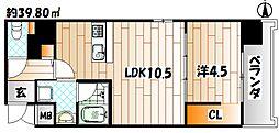 Apartment3771[606号室]の間取り