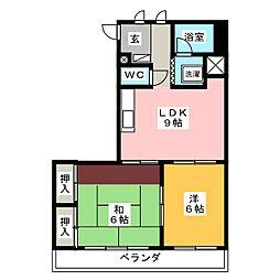 アメニティマンションウィル水戸[3階]の間取り