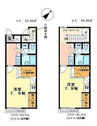 兵庫県明石市大久保町大窪の賃貸アパートの間取り