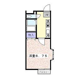 神奈川県逗子市沼間3の賃貸アパートの間取り