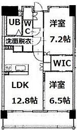 福岡県福岡市早良区有田5丁目の賃貸マンションの間取り