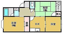 小津浜ハイツ[3A号室]の間取り