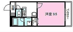 コテージ千秀石部[306号室]の間取り