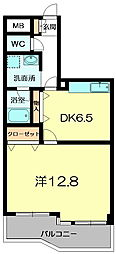 奈良県奈良市秋篠町の賃貸マンションの間取り