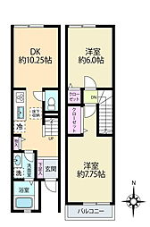 [テラスハウス] 神奈川県横浜市港南区笹下3丁目 の賃貸【/】の間取り