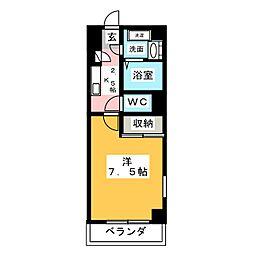 サンセール愛子[3階]の間取り