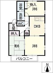 サニーパークスA棟[2階]の間取り