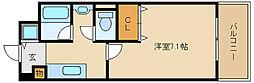 兵庫県尼崎市御園3丁目の賃貸マンションの間取り