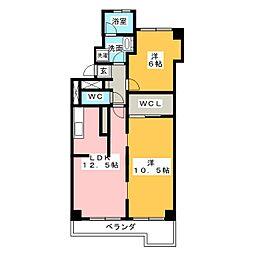 宝味美ハイツ 406号室[4階]の間取り