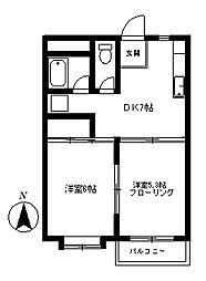バンダーブルーマンション[2階]の間取り