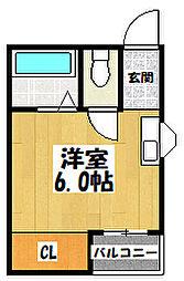 大阪府大阪市都島区東野田町5丁目の賃貸マンションの間取り