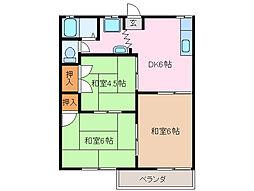 ハイツノムラ[2階]の間取り