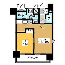プレサンス名古屋駅前ヴェルロード[12階]の間取り