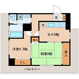 メゾンドールヘンミ[4階]の間取り