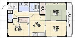 ピソキタノ[4階]の間取り