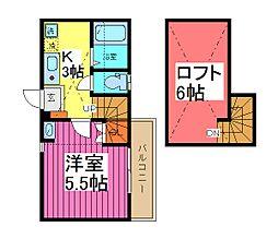 LIEN 芝中田[2階]の間取り