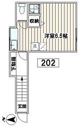 小畑荘[202号室]の間取り