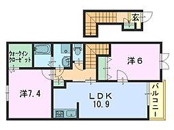 ファイヤーバード[2階]の間取り