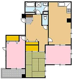 横浜コスタセイス[3階]の間取り