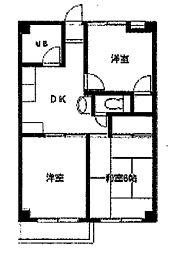 森ヶ丘第三マンション[2階]の間取り