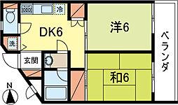 東京都練馬区下石神井1丁目の賃貸マンションの間取り