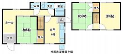 [タウンハウス] 兵庫県姫路市田寺4丁目 の賃貸【/】の間取り