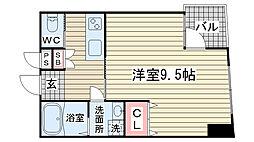 ウィステリア神戸駅前[805号室]の間取り