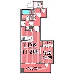 パークホームズ横濱山下公園[4階]の間取り