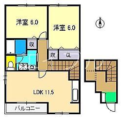 モルティ.メゾン2[2階]の間取り