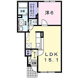 レガーレⅢ[1階]の間取り