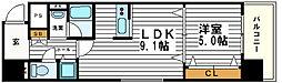 大阪府大阪市天王寺区上本町1丁目の賃貸マンションの間取り