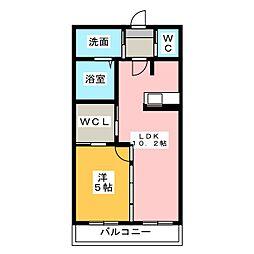 キトウハイツ[2階]の間取り