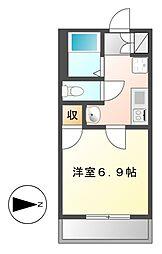 ヒルズ・フドー[3階]の間取り