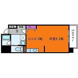 ベリーモンテ新大阪[8階]の間取り