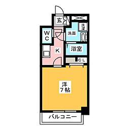 S−RESIDENCE御器所 9階1Kの間取り
