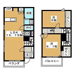 仮)赤塚6丁目新築計画 1階2LDKの間取り